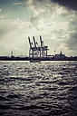 Germany, Hamurg, container cranes at River Elbe - KRPF000621