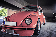 Old VW beetle parking at underpass - VTF000329