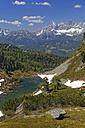 Austria, Styria, Liezen District, Tauern, View to Dachstein, Lake Spiegelsee - GFF000521