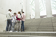 Group of students on stairs - WESTF019762