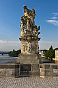 Czech Republic, Prague, Charles Bridge, Statue of St. Ludmila - AMF002473