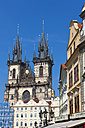Czech Republic, Prague, buildings and restaurants at Old Town Square - AMF002511