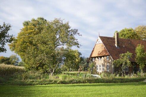 Germany, North Rhine-Westphalia, Petershagen-Bierde, Old traditional westphalian farm house - HAW000349