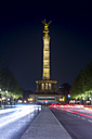 Germany, Berlin, Berlin-Tiergarten, Great Star, Berlin Victory Column at night - NKF000150