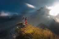 Austria, Salzburg State, Filzmoos, Couple, Two hikers - HHF004828