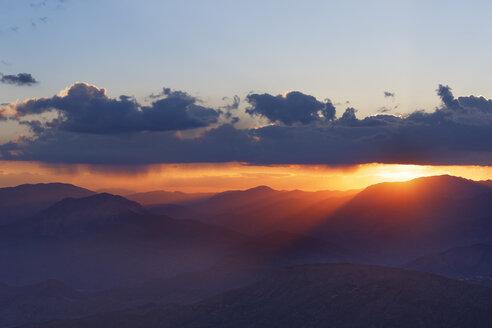 Turkey, Anatolia, sunset on Mount Nemrut - SIEF005543
