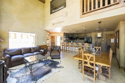 USA, Texas, Spacious Farm House Livingroom Interior - ABAF001423