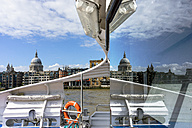 United Kingdom, England, London, City of London, St Paul's Cathedral, seen from a water taxi - WEF000175
