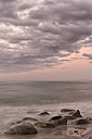 New Zealand, South Island, Tasman, Kahurangi Point, dusk at the beach - SHF001515