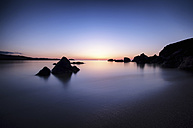 Spain, Menorca, Sunset at Playa de Cavalleria - SMAF000214