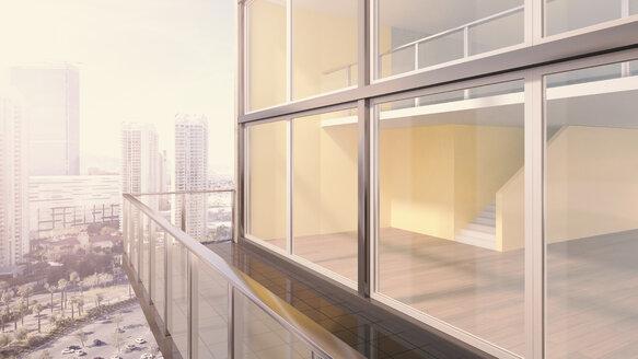 Penthouse, exterior view, 3D rendering - UWF000124