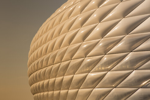 Germany, Bavaria, Munich, Froettmaning, part of facade of Allianz Arena - FC000279