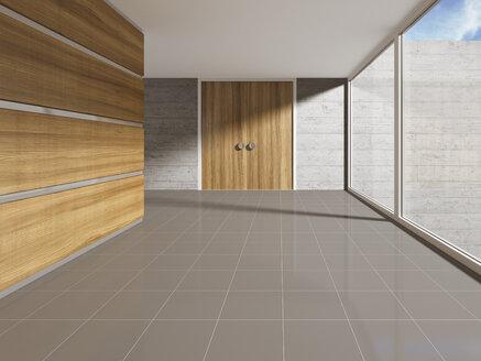 Interior view of office building, 3D rendering - UWF000127
