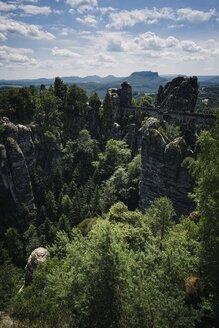 Germany, Saxony, Saxon Switzerland, Bastei rock formation - ELF001128