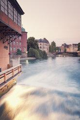 France, Strasbourg, barrage of River Ill at Place des Moulins - MEMF000269