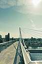 Bridge Passerelle des Deux Rives connecting the cities Kehl, Germany, and Strasbourg, France - MEMF000275