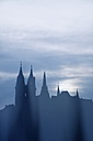 Germany, Saxony, Meissen, Silhouette of Albrechtsburg castle and Cathedral - ELF001155