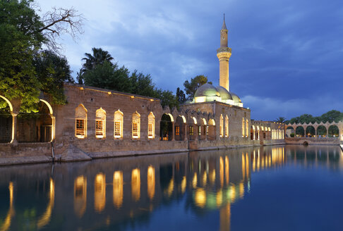 Turkey, Anatolia, Sanliurfa, Pool of Abraham with Rizvaniye Mosque in background - SIEF005622