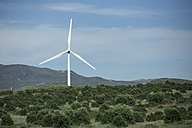 Spain, Andalusia, Tarifa, Wind turbine - KBF000069