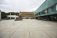 Spain, Barcelona, exterior of museum CosmoCaixa - THA000504