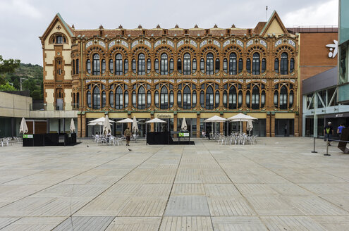 Spain, Barcelona, exterior of museum CosmoCaixa - THAF000506