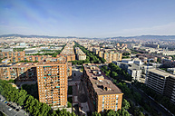 Spain, Barcelona, view on neighborhood Diagonal Mar i el Front Maritim del Poblenou - THAF000513
