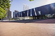 Spain, Barcelona, Telefonica building and Museu Blau - THAF000516
