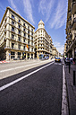 Spain, Barcelona, street in district Barri Gotic - THAF000529