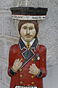 Germany, Bavaria, Lower Bavaria. Waldkirchen, Traditional male figure at wall, Hochzeiter - LB000814