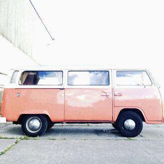 VW bus, German trademark, old, classic car, Hamburg Germany - MS004074