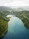 Caribbean, St. Lucia, aerial photo of Marigot Bay - AMF002518