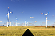 Germany, Saxony-Anhalt, Onshore wind farm on the field - LYF000176