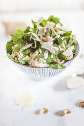 Caesar Salad with roasted cashews in a bowl - SBDF001018
