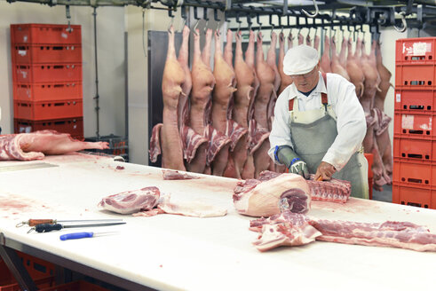Processing of pig carcasses in a slaughterhouse - LYF000211