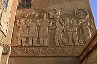 Turkey, Eastern Anatolia, Van province, Van Lake, Akdamar Island, Reliefs on the walls of Armenian Cathedral Church of the Holy Cross - ES001264