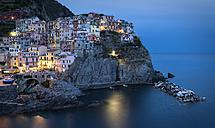 Italy, Cinque Terre, Manarola in the evening - MKFF000020