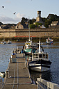 France, Bretagne, Finistere, Concarneau, Fishing harbour, Ville close in the background - DHL000481