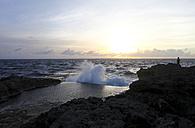 Indonesia, Bali, Nusa Lembongan, view to the sea at twilight - FAF000046