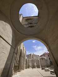 Spain, The Way of St James, Viana, Ruins of San Pedro's Church - LAF001010