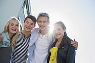 Portrait of four friends outdoors - UUF001373