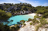 Spain, Balearic Islands, Menorca, Macarella, Cala Macarelleta, Beach - SMAF000226