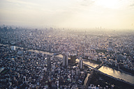 Japan, Tokyo, sunset over Asakusa with Sumida river - FLF000434