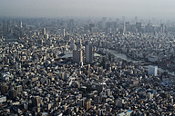Japan, Tokyo, view towards Asakusa and Sumida river - FLF000452