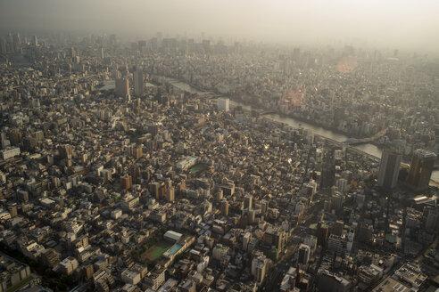 Japan, Tokyo, view towards Asakusa and Sumida river - FLF000443