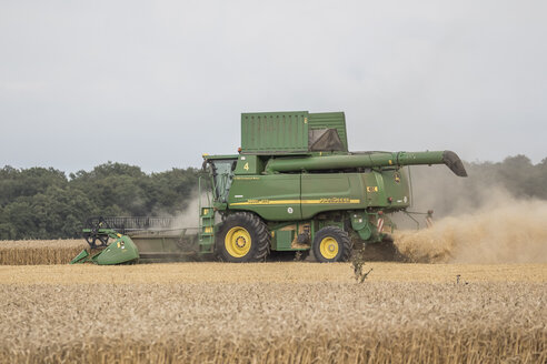 Germany, Lower saxony, combine harvester at work - PVC000204