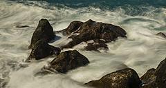 Spain, Canary Islands, Tenerife, Adeja, West coast, Lava rocks, Surging billows - WGF000360