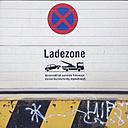 No parking sign at loading bay - GSF000882