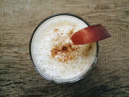 Pineapple, pear and banana smoothie in a glass. - HAWF000395