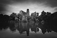 Germany, Baden-Wuerttemberg, Stuttgart, St Johannis Church at Lake Feuersee - EL001214