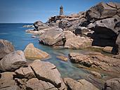 France, Brittany, Cotes-d'Armor, Cote de Granit Rose, Lighthouse Mean Ruz - MKF000032